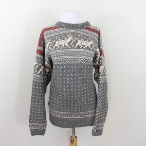 Dale of Norway Sweater Nordic Gray Cream Medium 42